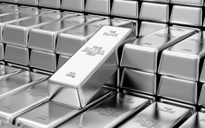 37749248 - business, financial, bank silver reserves concept. stack of silver bars in the bank vault abstract background